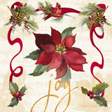 Christmas Poinsettia Ribbon IV