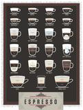 Exceptional Expressions of Espresso Reproduction d'art par Pop Chart Lab
