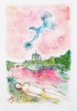 Pink Opera Reproduction d'art par Marc Chagall