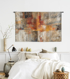 *Exclusive* Silver and Amber Crop Wall Tapestry - Large