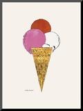 Ice Cream Dessert  c 1959 (red  pink  and white)