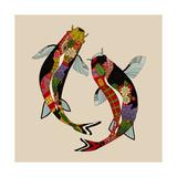 Two Koi Reproduction d'art par Sharon Turner
