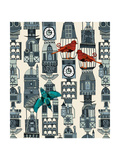 Steampunk Towers Reproduction d'art par Sharon Turner