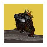 Iguana Gold Reproduction d'art par Sharon Turner