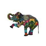 Eléphant d'Asie Reproduction d'art par Sharon Turner