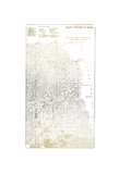 Gold Foil City Map San Francisco
