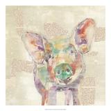 Farm Collage I Reproduction d'art par Jennifer Goldberger