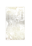 Gold Foil City Map Boston