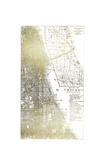 Gold Foil City Map Chicago