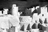 Cliff Palace Ruins BW