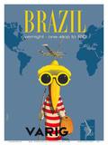 Brazil - Overnight One Stop to Rio De Janeiro - Varig Airlines - Lockheed Super G Constellation