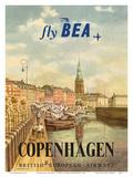 Copenhagen  Denmark - British European Airways (BEA)