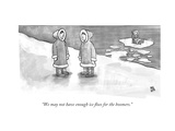 """We may not have enough ice floes for the boomers"" - New Yorker Cartoon"