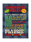 Superhero Rules Reproduction d'art par N. Harbick