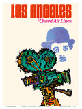 Los Angeles - United Airlines - Charlie Chaplin with Movie Camera