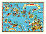Map of the Territory of Hawaii - American Samoa - Pictorial Map