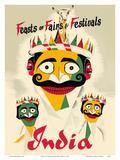 Feasts of Fairs & Festivals India - Indian Crowned Masks