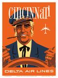 Cincinnati  Ohio - Delta Air Lines - Riverboat Captain