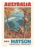Australia - Sail Matson - SS Mariposa  SS Monterey - Matson Navigation Company