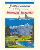 Beautiful Argentina - Aerolineas Argentinas (Argentina Airlines) - Luxurious Douglas DC-6s