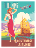 Hong Kong - Northwest Airlines - Boeing 377 Stratocruiser - Chinese Junk