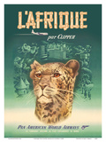 L'Afrique par Clipper (Africa by Clipper) - Pan American World Airways - African Cheetah