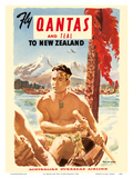 Fly Qantas and TEAL to New Zealand - Qantas Empire Airways (QEA) - Australia's Overseas Airline - M