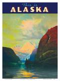 This is Alaska - Along Alaska's Sheltered Seas - The Alaska Line - Alaska Steamship Company