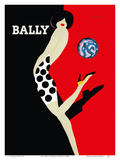 Bally Kick - Bally Shoes Reproduction d'art par Bernard Villemot