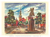 Old North Church - Boston  Massachusetts - United Airlines Calendar Page