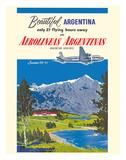 Beautiful Argentina - Aerolineas Argentinas (Argentina Airlines) - Luxurious Douglas DC-6s