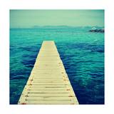 Boardwalk in Ses Illetes Beach in Formentera, Balearic Islands Reproduction d'art par Nito