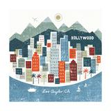 Colorful Los Angeles Reproduction d'art par Michael Mullan