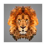 Lion Low Poly Portrait Reproduction d'art par Kakmyc