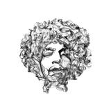 Jimi Hendrix Reproduction d'art par Octavian Mielu