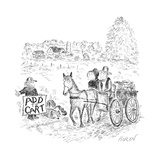 A hitch hiker calls for a ride - New Yorker Cartoon