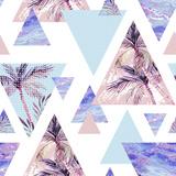 Abstract Summer Geometric Seamless Pattern Reproduction d'art par Tanycya