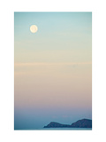 The Full Moon at Moonset over the British Virgin Islands Reproduction d'art par Heather Perry