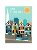 San Francisco California. Reproduction d'art par Ladoga
