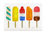 Popsicles Reproduction d'art par Cat Coquillette