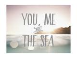 Toi, moi, et la mer Reproduction d'art par Rebecca Peragine