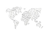 World Wire Map 5 Reproduction d'art par NaxArt