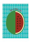 Watermelon Print Reproduction d'art