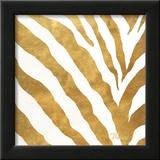 Gold Contemporary Zebra (gold foil)