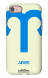Aries Zodiac Sign Blue