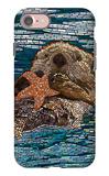 Sea Otter - Paper Mosaic
