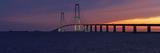 Denmark  Funen  Great Belt Bridge  Dusk