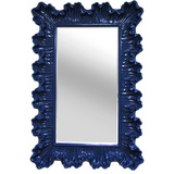 Ornate Elegance Wall Mirror - Cobalt