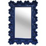 Ornate Elegance Wall Mirror - Cobalt