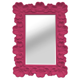 Ornate Elegance Wall Mirror - Hot Pink